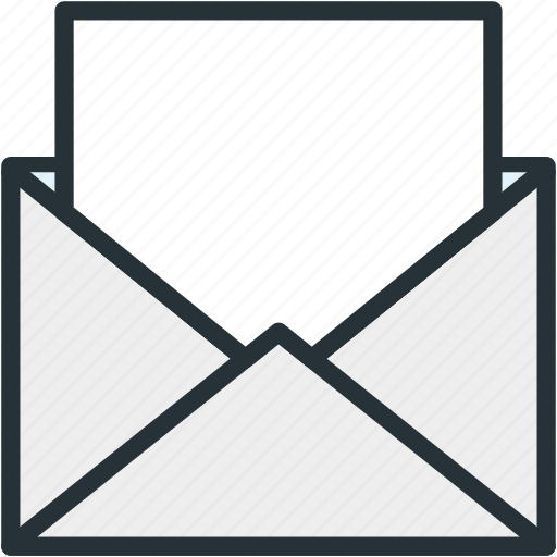 communications, mail, open icon