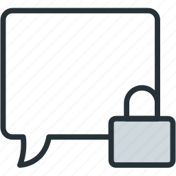 bubble, communications, conversation, privacy, speech icon