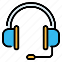 call center, communications, customer service, headphone, help, information icon