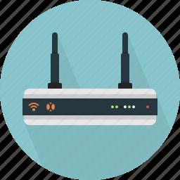 communication, lan, modem, router icon