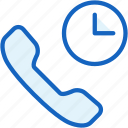 call, communications, long, timer icon