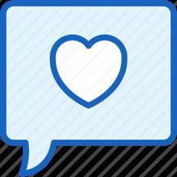 bubble, communications, like, speech icon