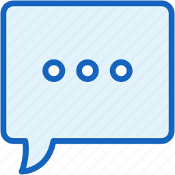 bubble, communications, speech, typing icon