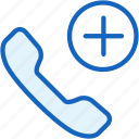 add, call, communications, plus icon