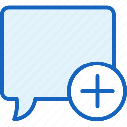 bubble, communications, plus, speech icon