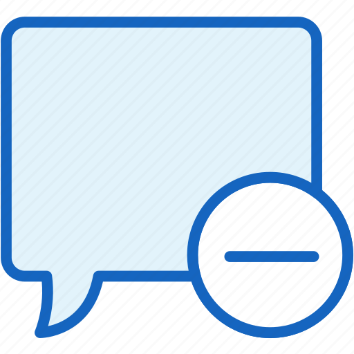 bubble, communications, minus, speech icon