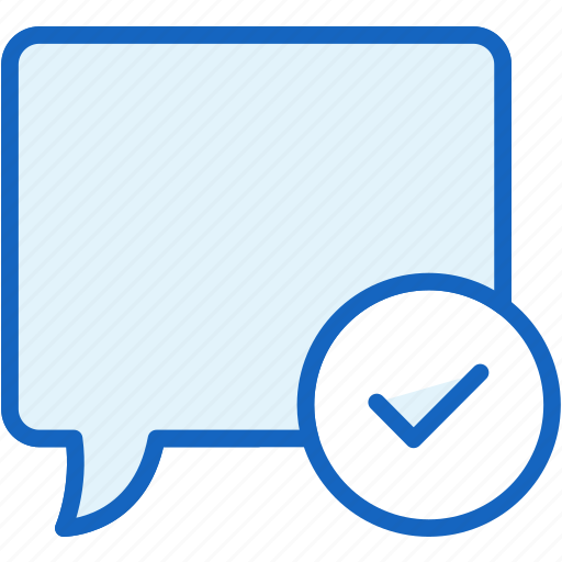 approve, bubble, check, communications, speech icon