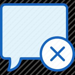 bubble, close, communications, speech icon