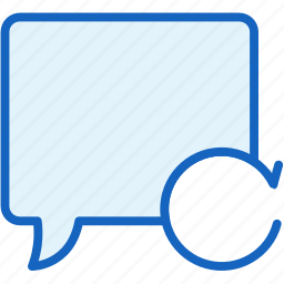 bubble, communications, repeat, speech icon