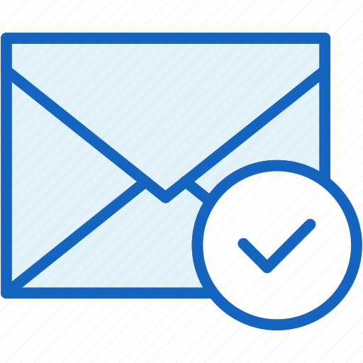 approve, check, communications, envelope, mail icon