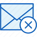 block, communications, envelope, mail, spam icon
