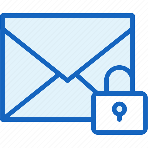 communications, envelope, lock, mail, privacy icon
