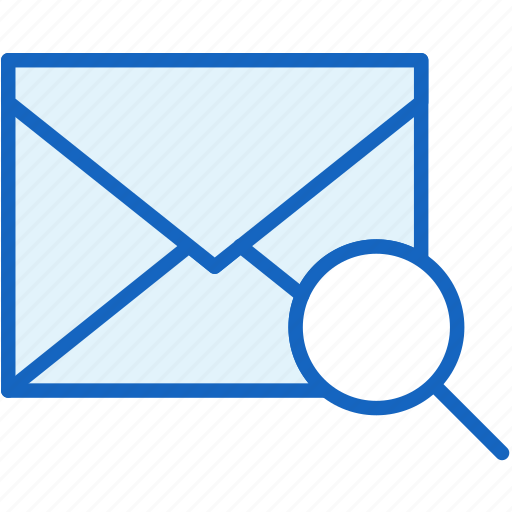 communications, envelope, mail, search icon