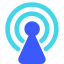signal, tower, wifi icon