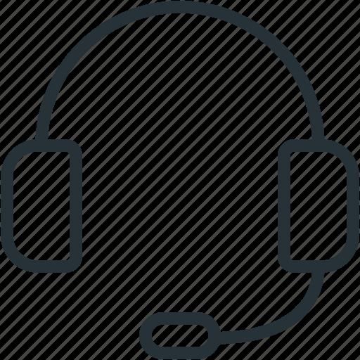 communications, headphones, support icon