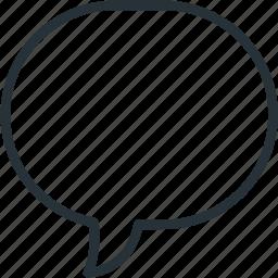 ballon, bubble, communications, message, speech icon