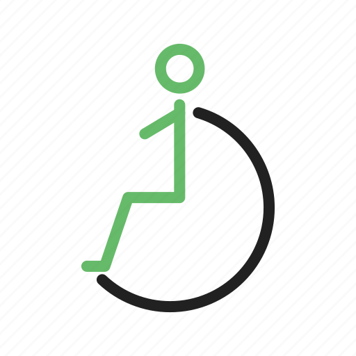 Disability, disabled, handicapped, outside, person, wheelchair, work icon - Download on Iconfinder