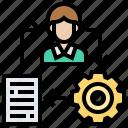 job, loop, management, plan, project icon