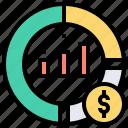 chart, data, market, pie, share