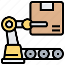 operation, packaging, process, production, robot icon