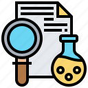 analysis, data, lab, research, science icon