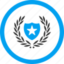 achievement, glory, honor, pride, shield, success, victory icon