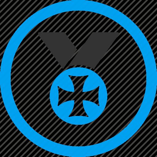 cross, maltese medal, military, prize, reward, success, war award icon