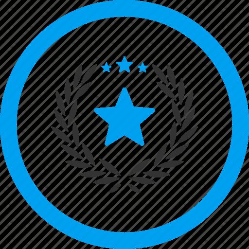 achievement, glory, honor, pride, proud emblem, success, victory icon