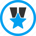 award, badge, favorite, prize, star medal, success, winner icon