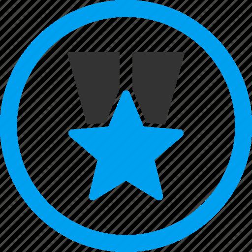 award, badge, favorite, prize, star medal, success, winner icon