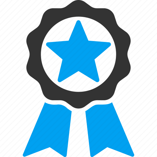 achievement badge, best quality, business award, favorite, guarantee stamp, star, winner prize icon