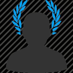 caesar, glory, honor, leader, leadership, proud, winner icon