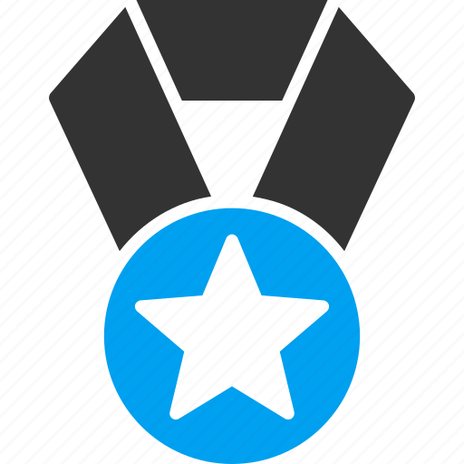 badge, champion, favorite, medal, rating, star, trophy icon