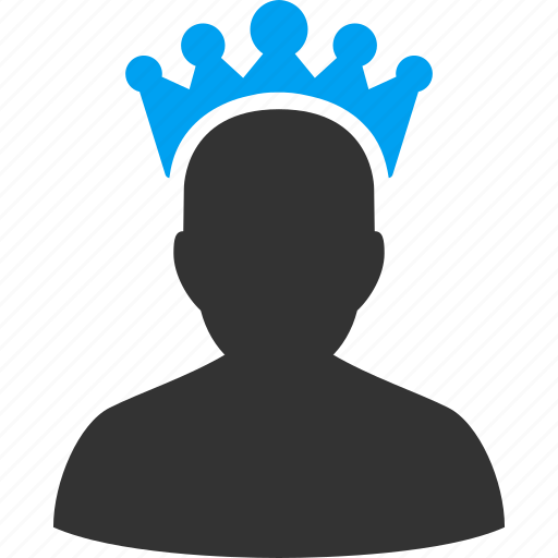 admin, administrator, crown, king, manager, power, user icon