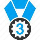 award, bronze medal, competition, competitive, rating, third prize, trophy icon