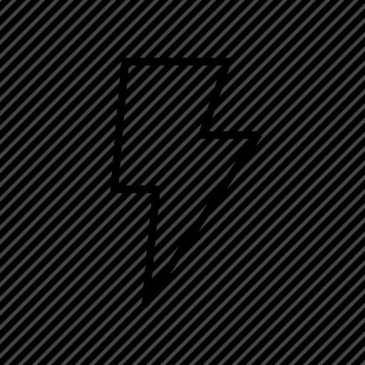 bolt, electricity, energy, power, strom, thunder icon
