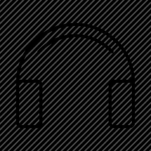 device, electronics, headphone, headset, music icon