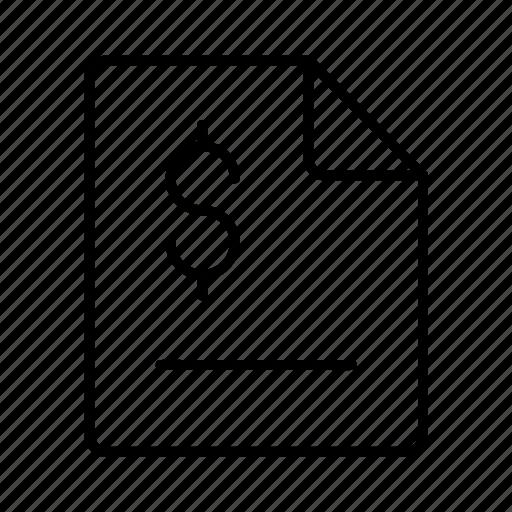 bill, document, invoice, patment icon