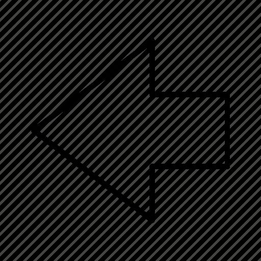 arrow, back, direction, left, navigation, path icon