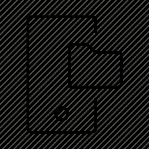 file, folder, mobile, storage icon