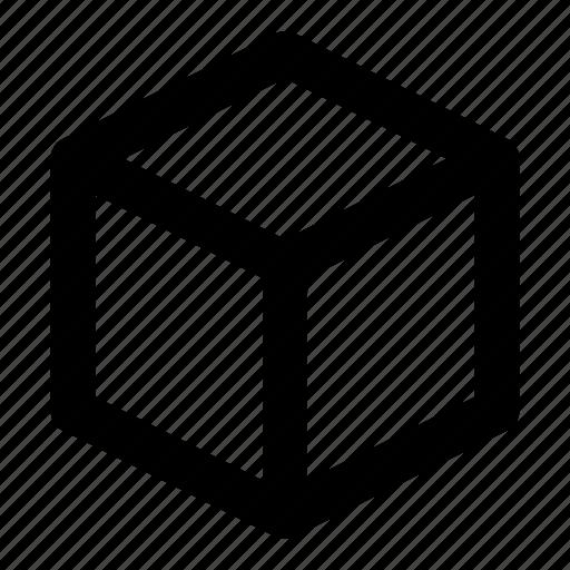 abstract, box, creative, cube, shape icon