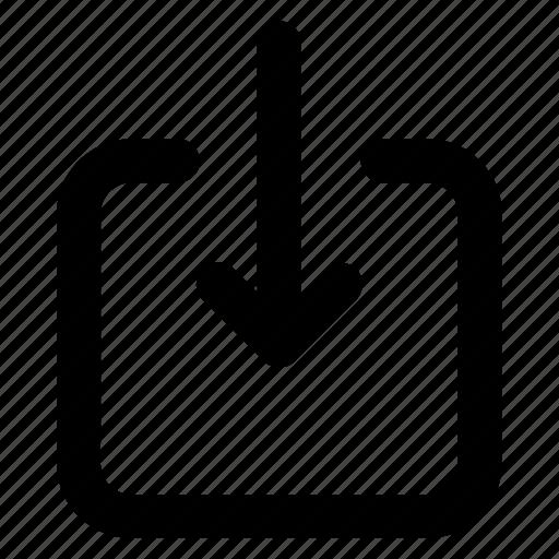 arrow, down, download, receive, save icon