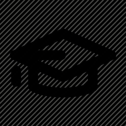 degree, diploma, education, hat, universit icon