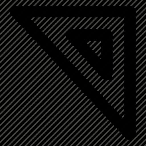 design, graphic, shape, tool, triangle icon