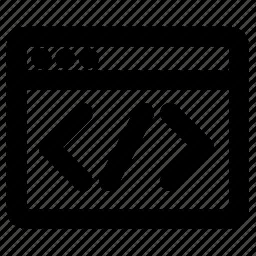 coding, development, page, programming, web icon