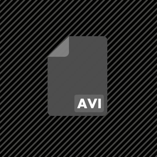 avi, document, file, format, video icon