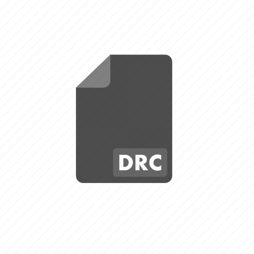 document, drc, file, format, video icon