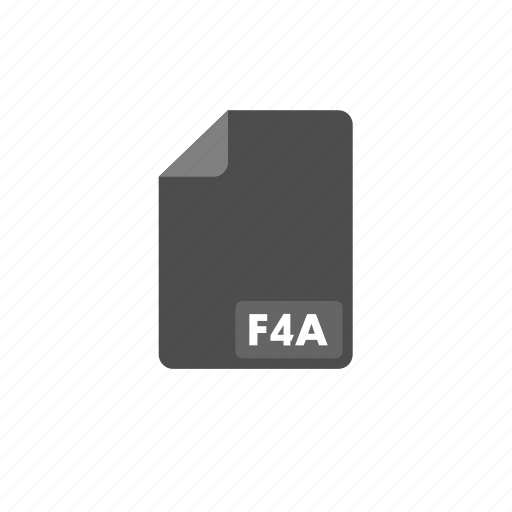 document, f4a, file, format, video icon