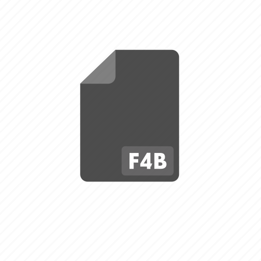 document, f4b, file, format, video icon