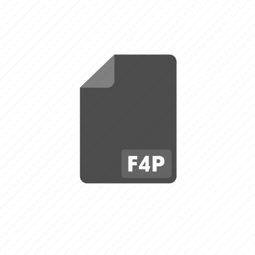 document, f4p, file, format, video icon